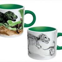 再び恐竜を絶滅させることができるマグカップ『Disappearing Dinosaurs Mug』