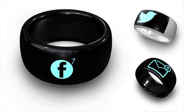 SNSの反応やメールの受信をシンプルに通知してくれる指輪「MOTA SMART RING」