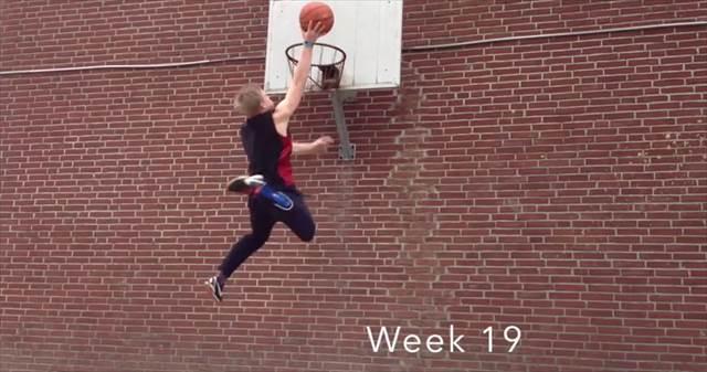 【173cm】努力は必ず報われる!ダンクを成功させるまでひたすら跳び続けた少年の記録