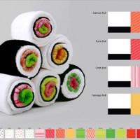 巻くと巻き寿司になるタオル『Sushi Towels』が楽しいよ