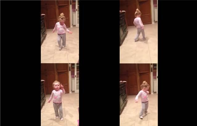 マーク・ロンソンの『Uptown Funk』を聴いて超ノリノリでダンスする少女が可愛い!