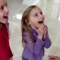 新鮮な反応に心温まる!宝探しゲームで子供たちに妊娠したことを発表するサプライズが素敵!