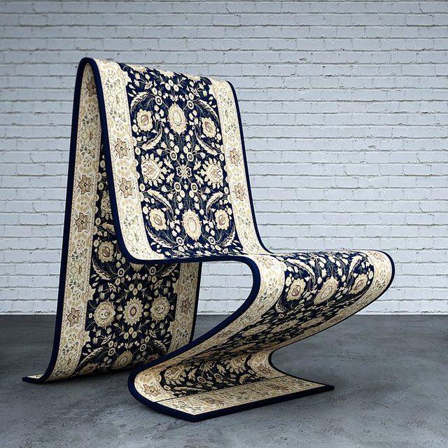 まるで魔法。空飛ぶ絨毯のような椅子『Carpet Chair』が素敵