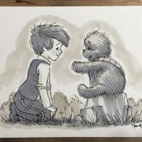 海外のイラストレーターが描いた『くまのプーさん風スターウォーズ』が可愛いと話題に