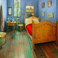 【宿泊可能】ゴッホの名画「ファンゴッホの寝室」を現実世界に再現した部屋が凄い!