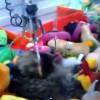 【動画】海外でUFOキャッチャーの中に猫が寝ていると話題に、釣り上げようと試みるも・・・