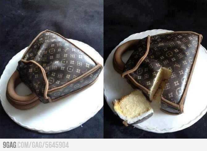 ルイ・ヴィトンの鞄にそっくりなケーキのクオリティが半端ない!!