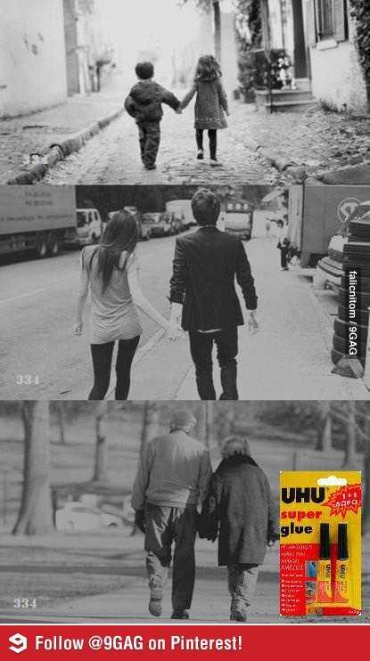 「永遠に一緒だよ」接着剤のポスターの発想が素晴らしい