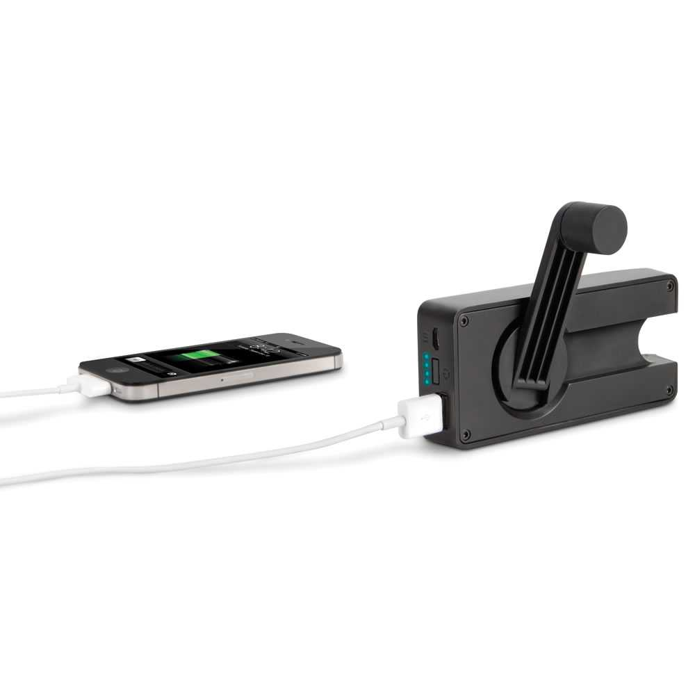 The Hand Crank Emergency Cell Phone Charger.