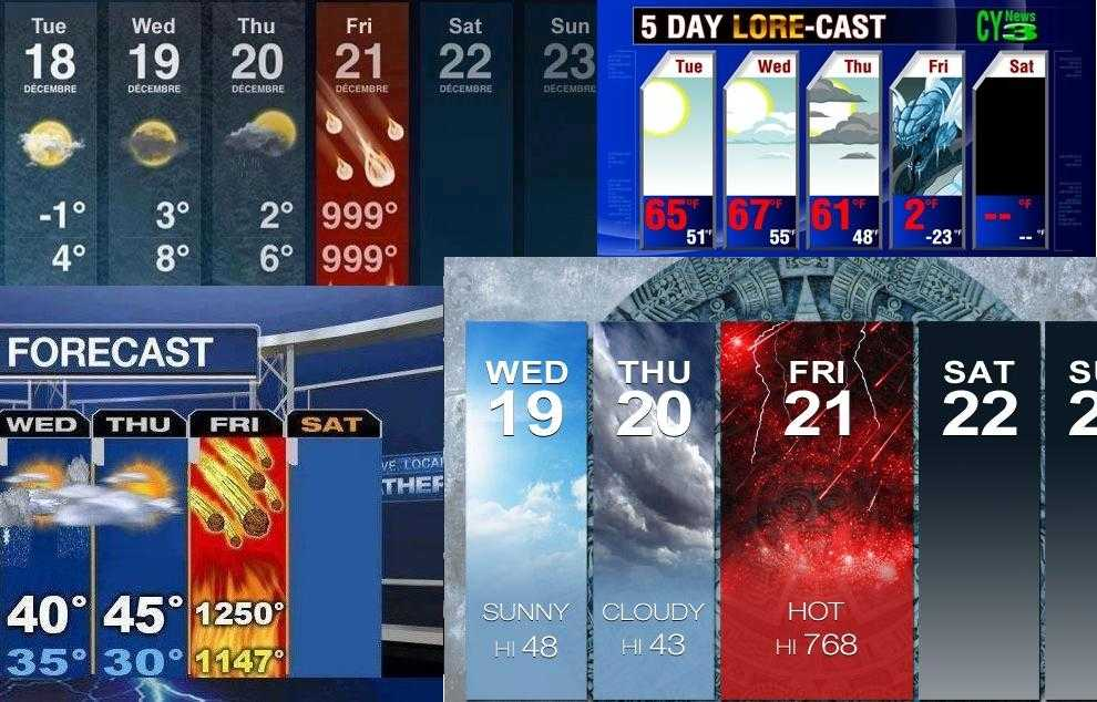 【マヤ暦】世界最後の日の世界各国のカレンダーがヤバイw