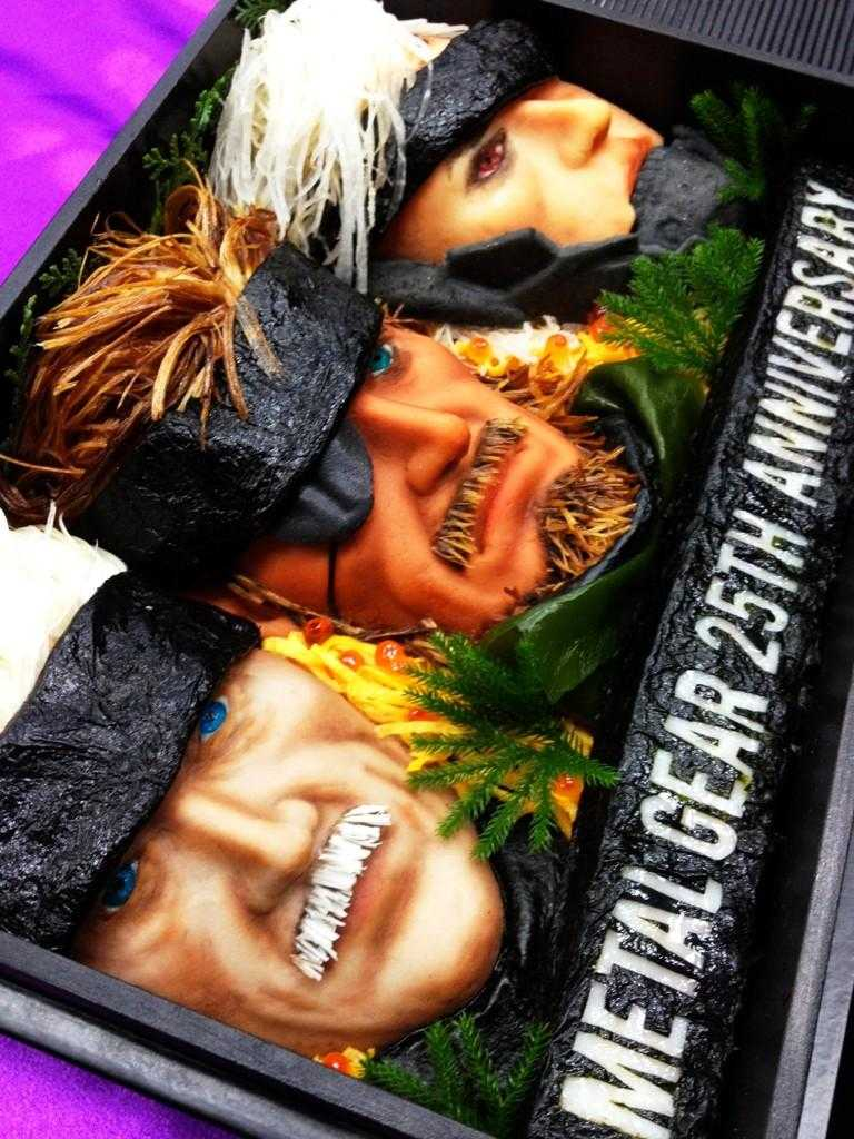 メタルギア生誕25周年を記念した企画「究極のキャラ弁」の写真
