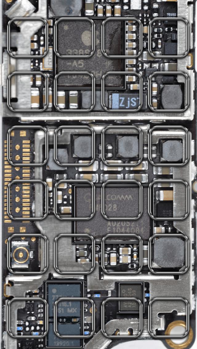 【iPhone5用】iPhoneがスケルトンぽく見える壁紙を作ってみたよ