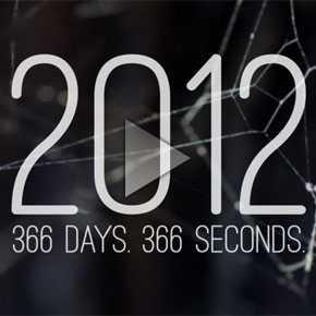 2012年を366秒で振り返る「2012 in 366 Seconds」という動画が話題
