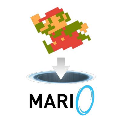 【ゲーム性崩壊】ポータルガンを所持したマリオが活躍するゲーム「Mari0」