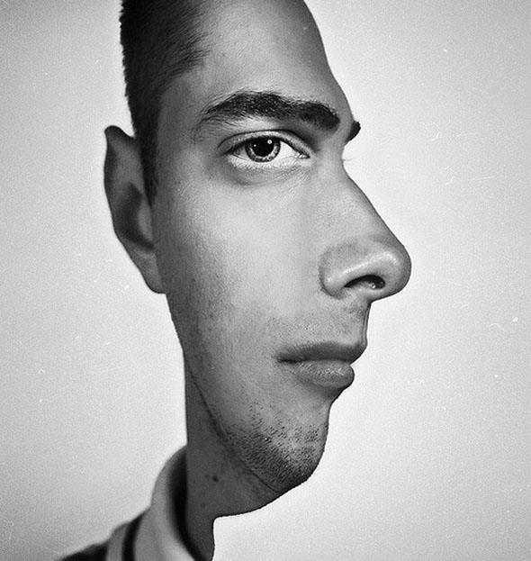 【画像】横にも正面にも見える不思議な顔写真