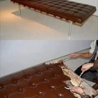 【小ネタ】上質な革張りのベッド・・・と思いきやチョコレートケーキ!