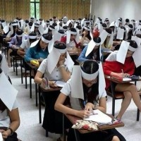 「屈辱を受けた」タイで考案されたカンニング防止のヘッドギアが話題
