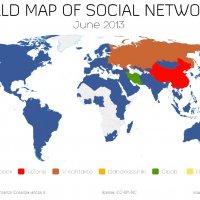 【2013年上半期】世界で一番流行ったSNSはどれ?「世界のSNS勢力図」