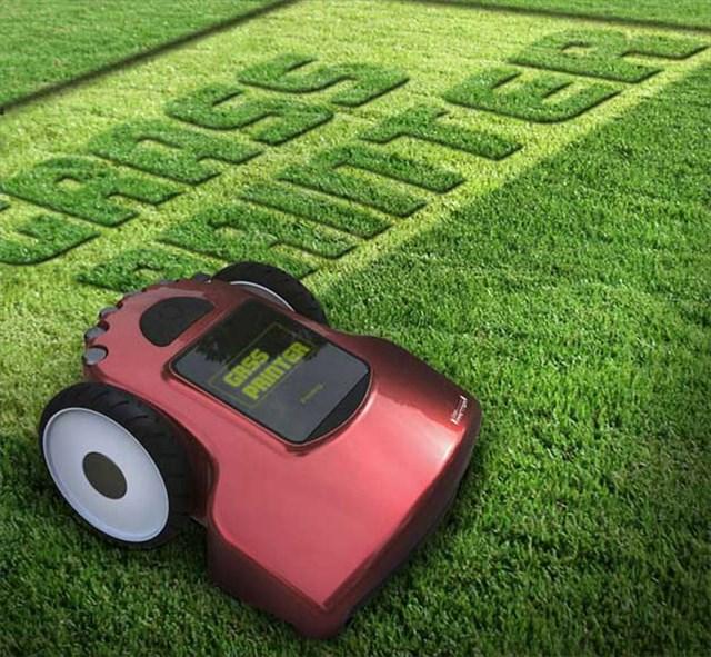 これは面白い!入力した図形データを基に草を刈る草刈機「Grass Printer」