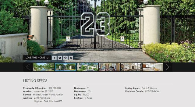 マイケル・ジョーダンの豪邸が2900万ドルでオークションに出品されているよ!