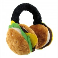 ハンバーガー型の耳あて「Plush Cheeseburger Adjustable Earmuffs」