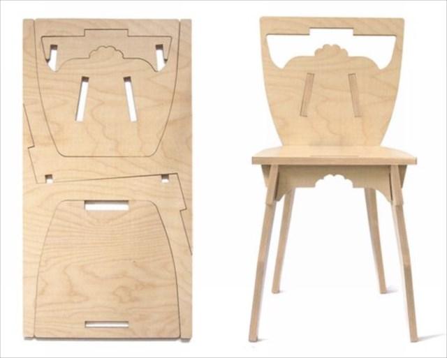 一枚の板があっという間に椅子になる「The Pano chair 」が目からウロコ