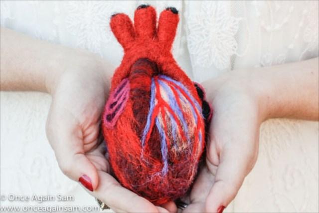 なんだこれ!米ハンドメイドマーケット「Esty」でフェルト製の心臓が売ってたw