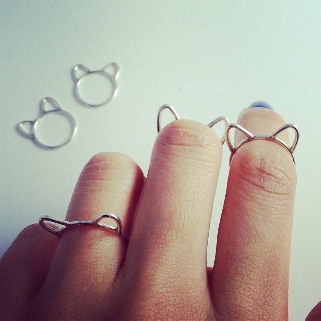なんだこれ可愛い!猫耳型の指輪「Silver Cat Ears Ring」